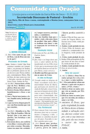 missas janeiro 2012.pmd - Diocese de Erexim