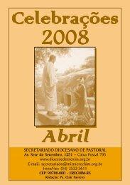 Celebrações ABR 2008.p65 - Diocese de Erexim