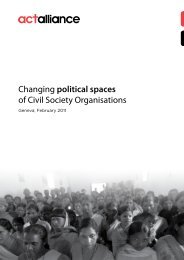Changing political spaces of Civil Society Organisations