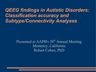 QEEG findings in Autistic Disorders: Classification accuracy and ...