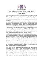 Rede de Saberes: projeto leva jovens da Maré à universidade