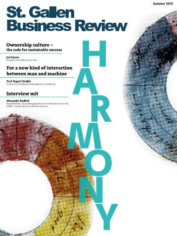 St. Gallen Business Review. Harmony