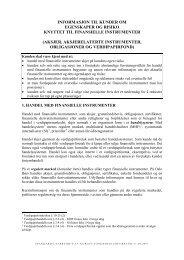 Risiko knyttet til handel med finansielle instrumenter - NRP AS