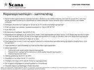 Reparasjonsemisjon - sammendrag - Scana Industrier ASA
