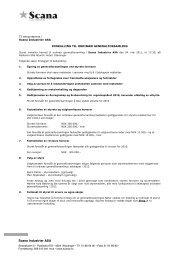 Innkalling til ordinær generalforsamling 2011 - Scana Industrier ASA