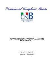 """""""Terapia intensiva """"aperta"""" alle visite dei familiari"""" - Governo Italiano"""