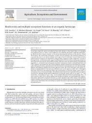 Biodiversity and multiple ecosystem functions in an organic farmscape