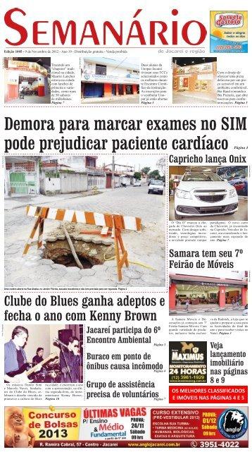 Edição 1005, de 9 de Novembro de 2012 - Semanário de Jacareí