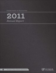2011 Annual Report - Warrington College of Business - University of ...
