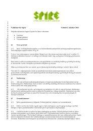 Vedtekter for Spire Vedtatt 2. oktober 2011 - Utviklingsfondet