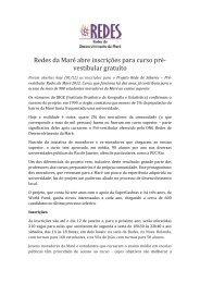 Redes da Maré abre inscrições para curso pré- vestibular gratuito