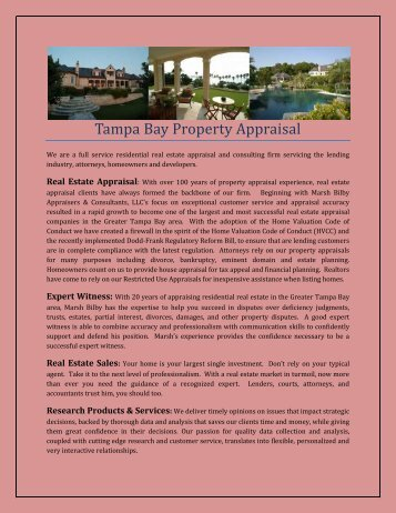 Tampa Bay Property Appraisal