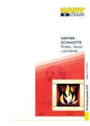 Download: Produktprogramm 2012 Hafnerschamotte - Hart Keramik