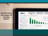 2015 PSA Testing Technologies and Emerging Market