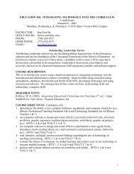 EDU 560: Integrating Technology into the Curriculum