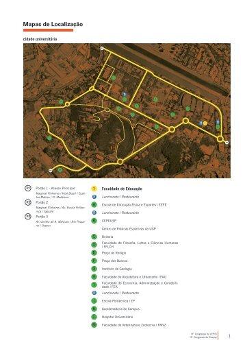 Clique aqui para copiar os mapas de acesso ao local - USP