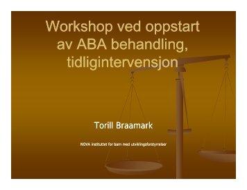 Tidlig Intervensjon med ABA - Autisme kan behandles
