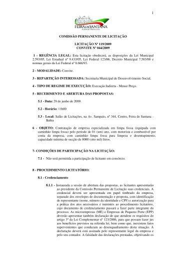 Edital - clique - Prefeitura Municipal de Feira de Santana