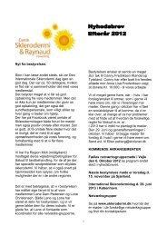 Efterår 2012 - Dansk Sklerodermi & Raynaud Forening