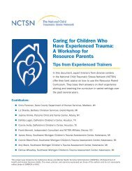 Caring for Children Who Have Experienced Trauma: A Workshop for ...