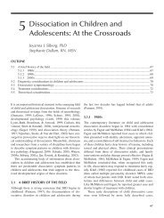 5 Dissociation in Children and Adolescents: At the Crossroads