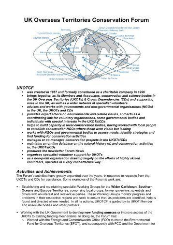 UK Overseas Territories Conservation Forum - UKOTCF