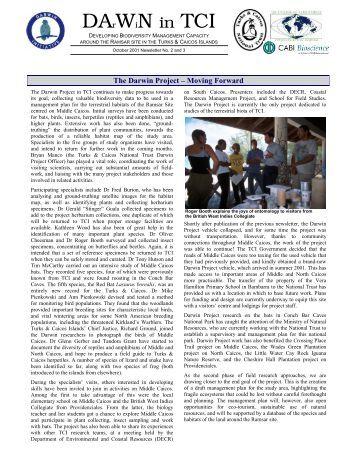 DArWiN in TCI - Issues 2 & 3 - UKOTCF