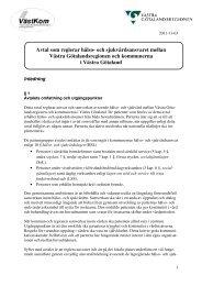 Avtal som reglerar hälso- och sjukvårdsansvaret mellan ... - Västkom