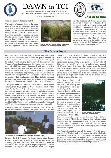 DArWiN in TCI - Issue 1 - UKOTCF