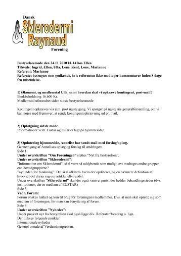 24. november 2010 - Dansk Sklerodermi & Raynaud Forening