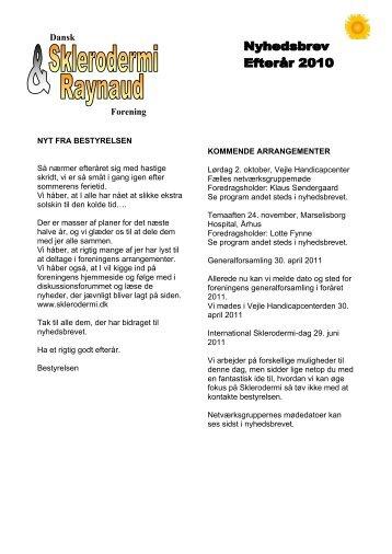 Efterår 2010 - Dansk Sklerodermi & Raynaud Forening