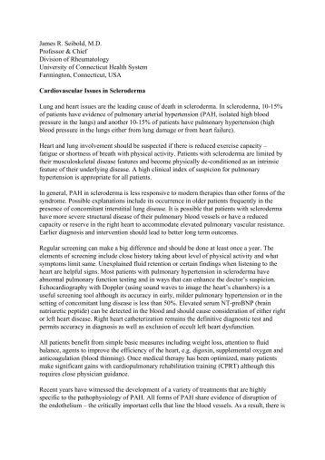 James R. Seibold, M.D. Professor & Chief Division of Rheumatology ...