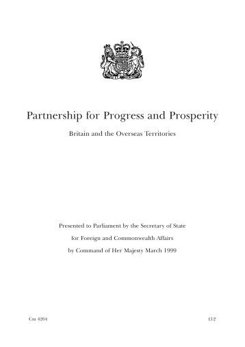 Partnership for Progress and Prosperity - UKOTCF