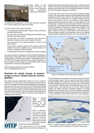 Baselines for climate change: an emperor penguin census in British ...