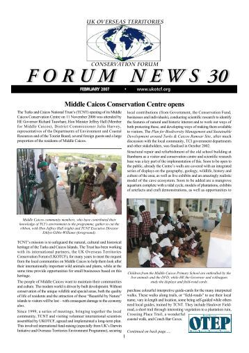 Forum News 30 - UKOTCF