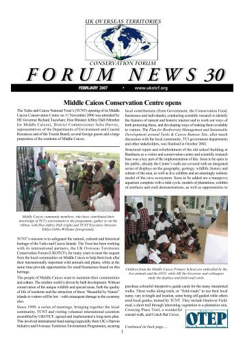 Forum News 30 - UKOTCF