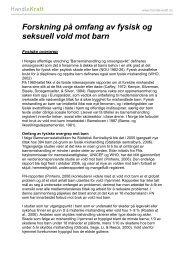 Forskning på omfang av fysisk og seksuell vold mot barn