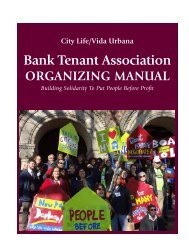 Bank Tenant Association Organizing Manual - City Life Vida Urbana