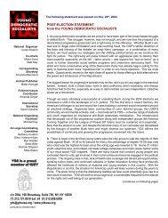 YDS 2004 Post-Election Statement.p65 - Campus Activism