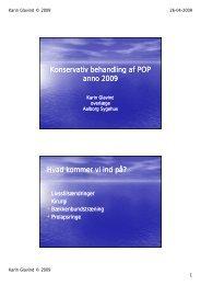 Konservativ behandling af POP anno 2009 - DUGS.dk.