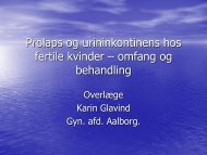 Prolaps og urininkontinens hos fertile kvinder – omfang og behandling