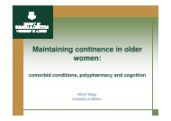 Maintaining continence in older women: comorbid ... - DUGS.dk.