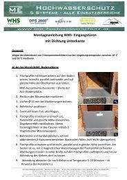 Montageanleitung an der Wand mit Nase (pdf) - Hochwasserschutz
