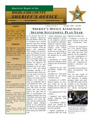 October - Highlands County Sheriff's Office