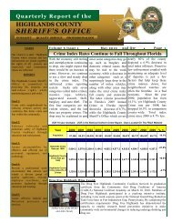 April - Highlands County Sheriff's Office