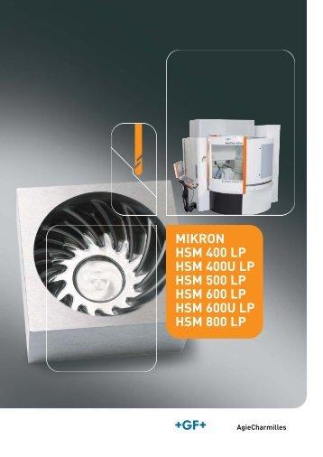MIKRON HSM 400 LP HSM 400U LP HSM 500 LP HSM 600 LP HSM 600U LP HSM 800 LP DE