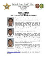 01-07-2013 Three Arrests in Home Invasion Robbery - Highlands ...