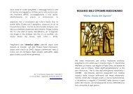 ROSARIO DELL'OTTOBRE MISSIONARIO - Arcidiocesi di Torino