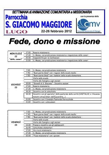 """S. Giacomo Maggiore"""" a Lugo (diocesi di Imola). - Comunità ..."""