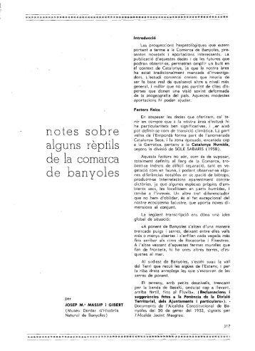 notes sobre alguns répíils de la comarca de banyoles - Raco